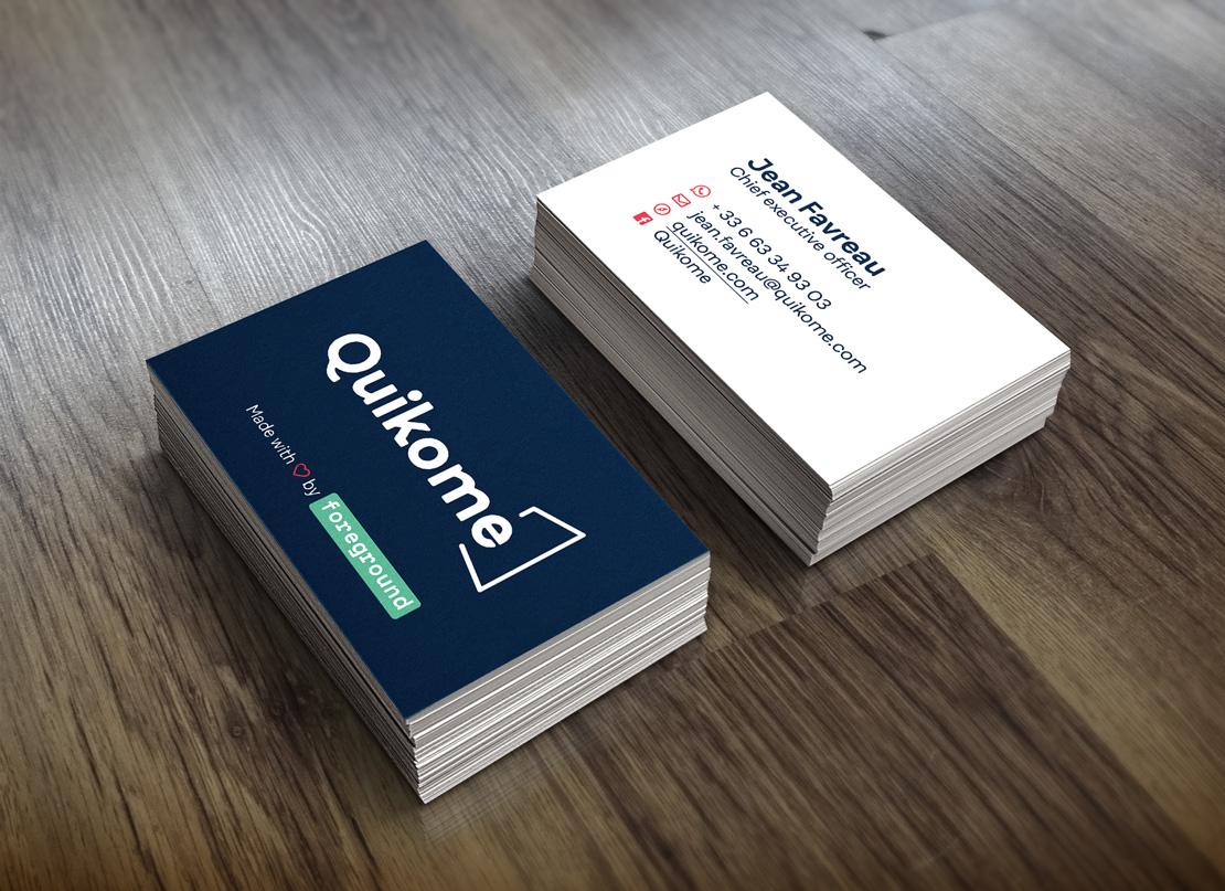 Carte de visite de Quikome - https://www.quikome.com/