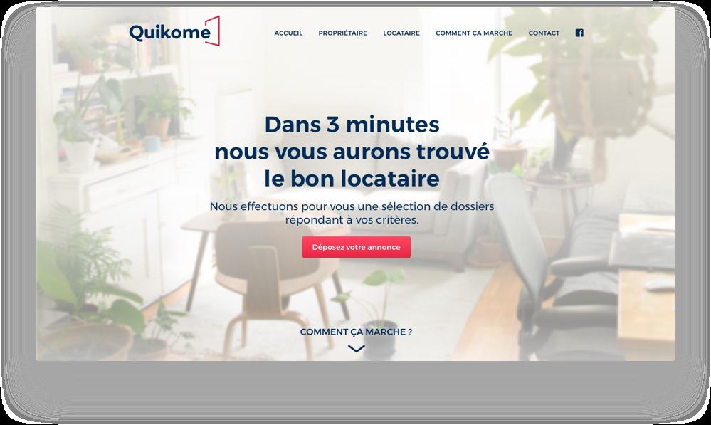 Site internet de Quikome - https://www.quikome.com/