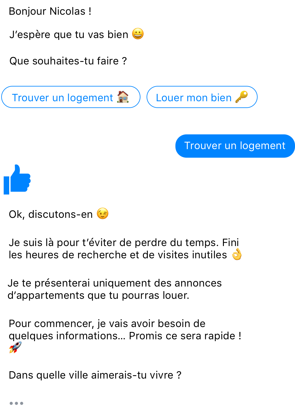 Conversation Chatbot Quikome