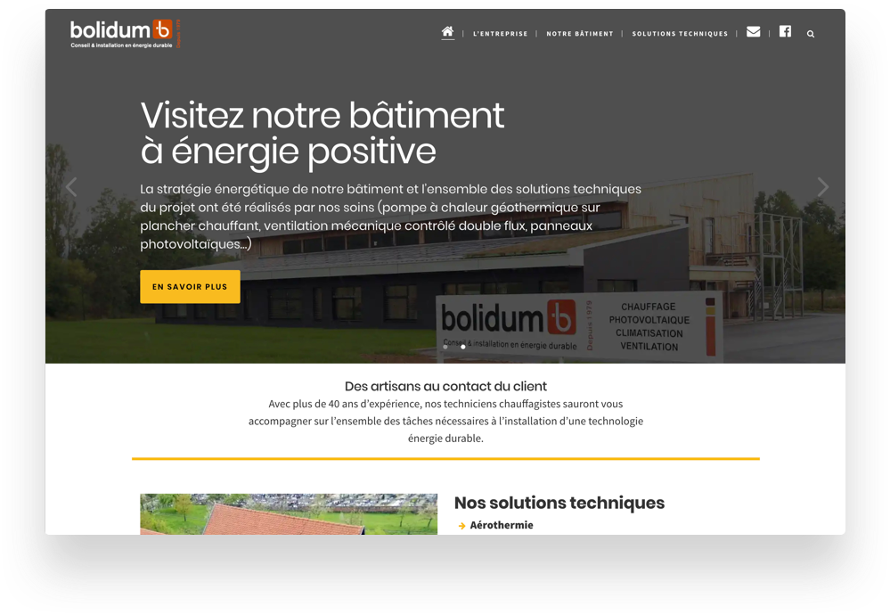 Accueil du site Bolidum