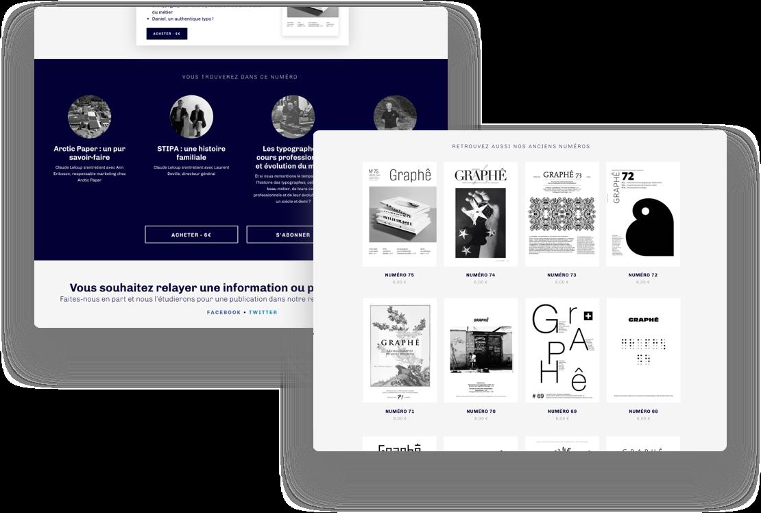 Site internet de la revue Graphê - http://typo-graphe.com/